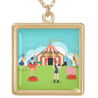 Collar del circo del vintage