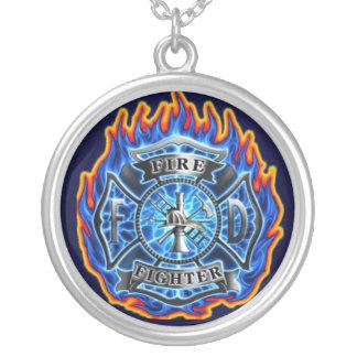 collar del colgante del bombero