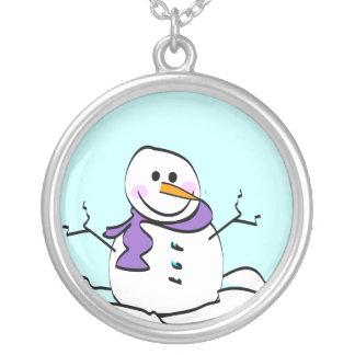 Collar del colgante del muñeco de nieve