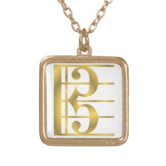 Collar del colgante del símbolo de música del clef