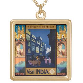 Collar del collage del poster del viaje de la Indi