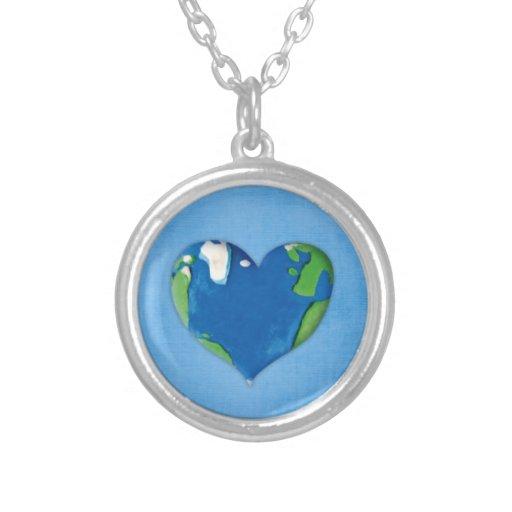 collar del corazón de la tierra