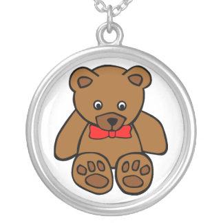 Collar del dibujo animado del oso de peluche de