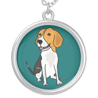 Collar del dibujo animado del perrito del beagle d