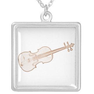 Collar del dibujo de la tinta de Brown del violín