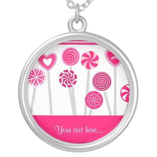 Collar del diseño de los Lollipops del corazón