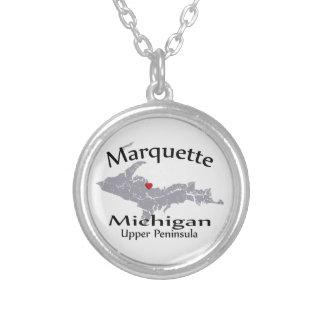 Collar del diseño del mapa de Marquette Michigan