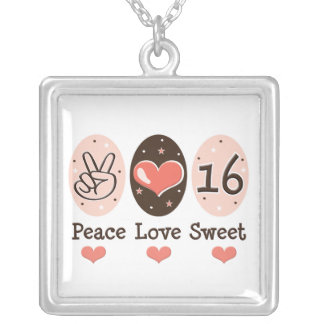 Collar del dulce 16 del amor de la paz