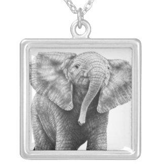 Collar del elefante africano del bebé