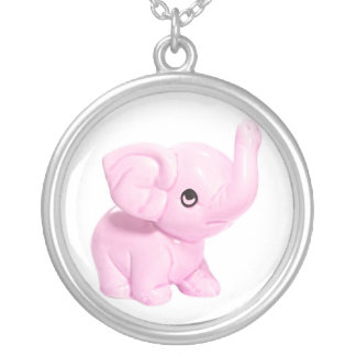 Collar del elefante rosado