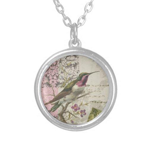 Collar del encanto del colibrí del vintage…