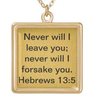 collar del estímulo del 13:5 de los hebreos del ve