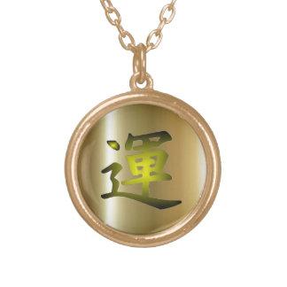 Collar del final del oro de la suerte del kanji