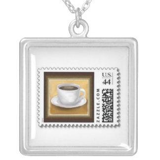 collar del franqueo del sello del café