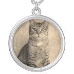 Collar del gato de Tabby del estilo   del vintage