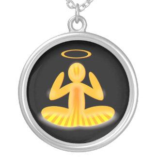 collar del halo de la meditación