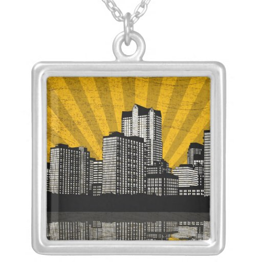 Collar del horizonte de St. Louis (amarillo - deta