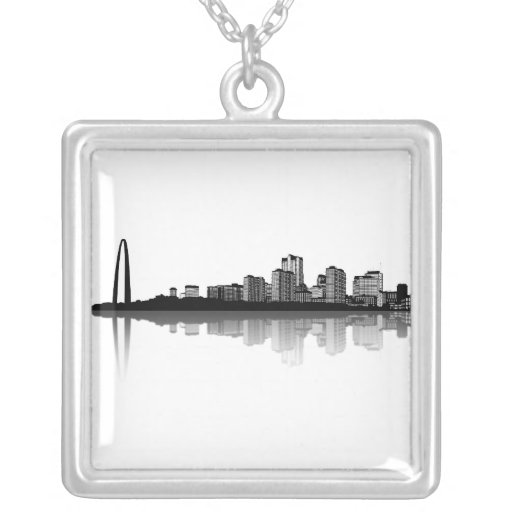 Collar del horizonte de St. Louis (b/w)