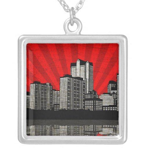 Collar del horizonte de St. Louis (rojo - detalle)
