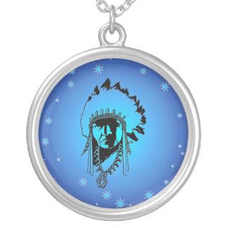 Collar del jefe indio de las estrellas azules