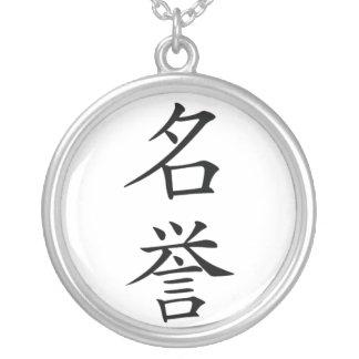 Collar del kanji del honor de Bushido del japonés