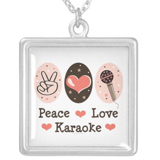 Collar del Karaoke del amor de la paz