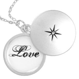 "Collar del Locket del ""amor"""
