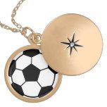 Collar del Locket del fútbol para los chicas