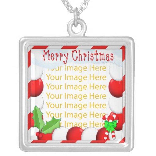 Collar del marco de la foto de las Felices Navidad