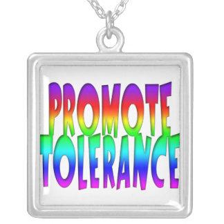 Collar del mensaje de la tolerancia