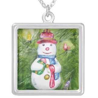 Collar del muñeco de nieve del árbol de navidad