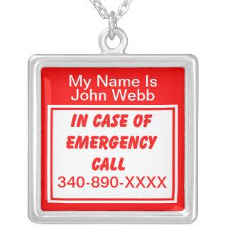 Collar del número de teléfono de la emergencia méd
