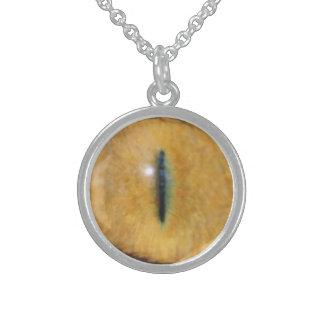 Collar del ojo de gato - plata esterlina