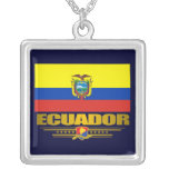 """Collar del orgullo de Ecuador"" Collar Plateado"