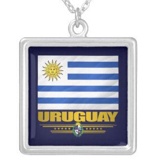 """Collar del orgullo de Uruguay"" Collar Plateado"