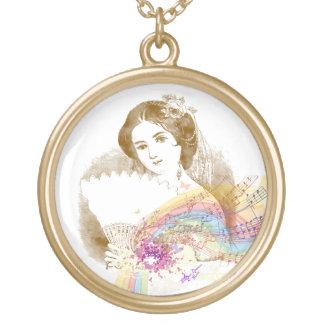 Collar del oro de FanLady MusicColorSplash del
