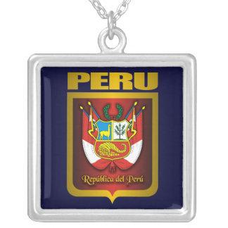 """""""Collar del oro de Perú"""" Colgante Cuadrado"""