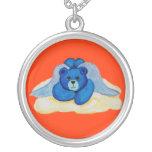 Collar del oso del ángel azul