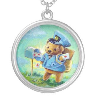 Collar del oso del poste de la tarjeta del día de