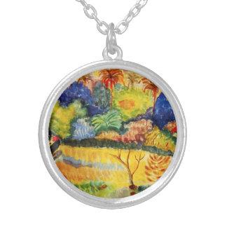 Collar del paisaje de Gauguin Tahitian