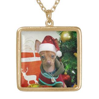 Collar del perro de la chihuahua del navidad