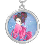 Collar del personalizado del arte del geisha de la