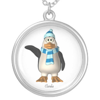 Collar del pingüino del invierno