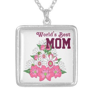 Collar del ramo floral del día de madre