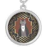 Collar del retrato del gatito del vampiro