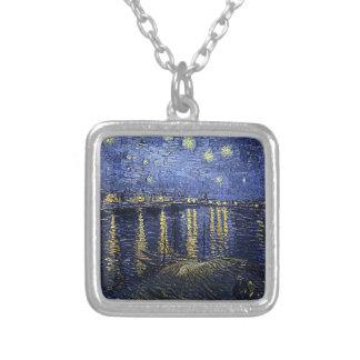 "Collar del Rhone de Van Gogh ""noche estrellada sob"