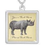 Collar del rinoceronte del vintage