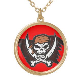 Collar del rojo del cráneo del pirata