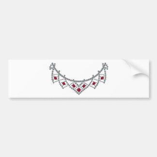 collar del rubí del diamante de los años 50 pegatina para auto
