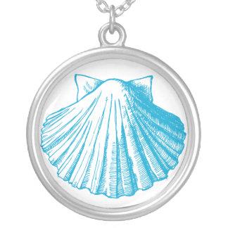 Collar del Seashell del azul de océano